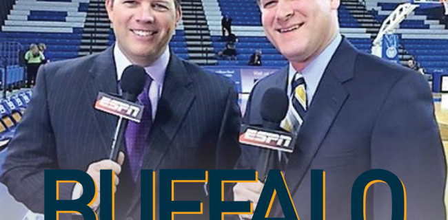 Photo of Paul Peck & Kevin Sylvester of Buffalo Sports Page