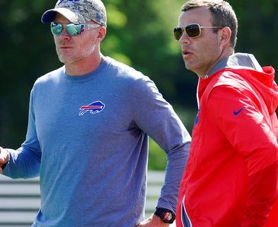 Photo of Bills Coach Sean McDermott & General Manager Brandon Beane